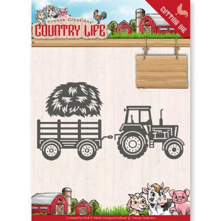 YCD10124 L ~ Tractor ~ Country Life ~ Yvonne Creations